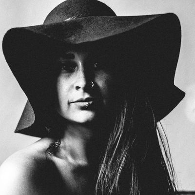 1/3 Her Beautiful Woman Blackandwhite Close-up Day Front View Hat Indoors  Leisure Activity Lifestyles Looking At Camera One Person Portrait Real People Vintage Womanstyle Young Adult Young Women