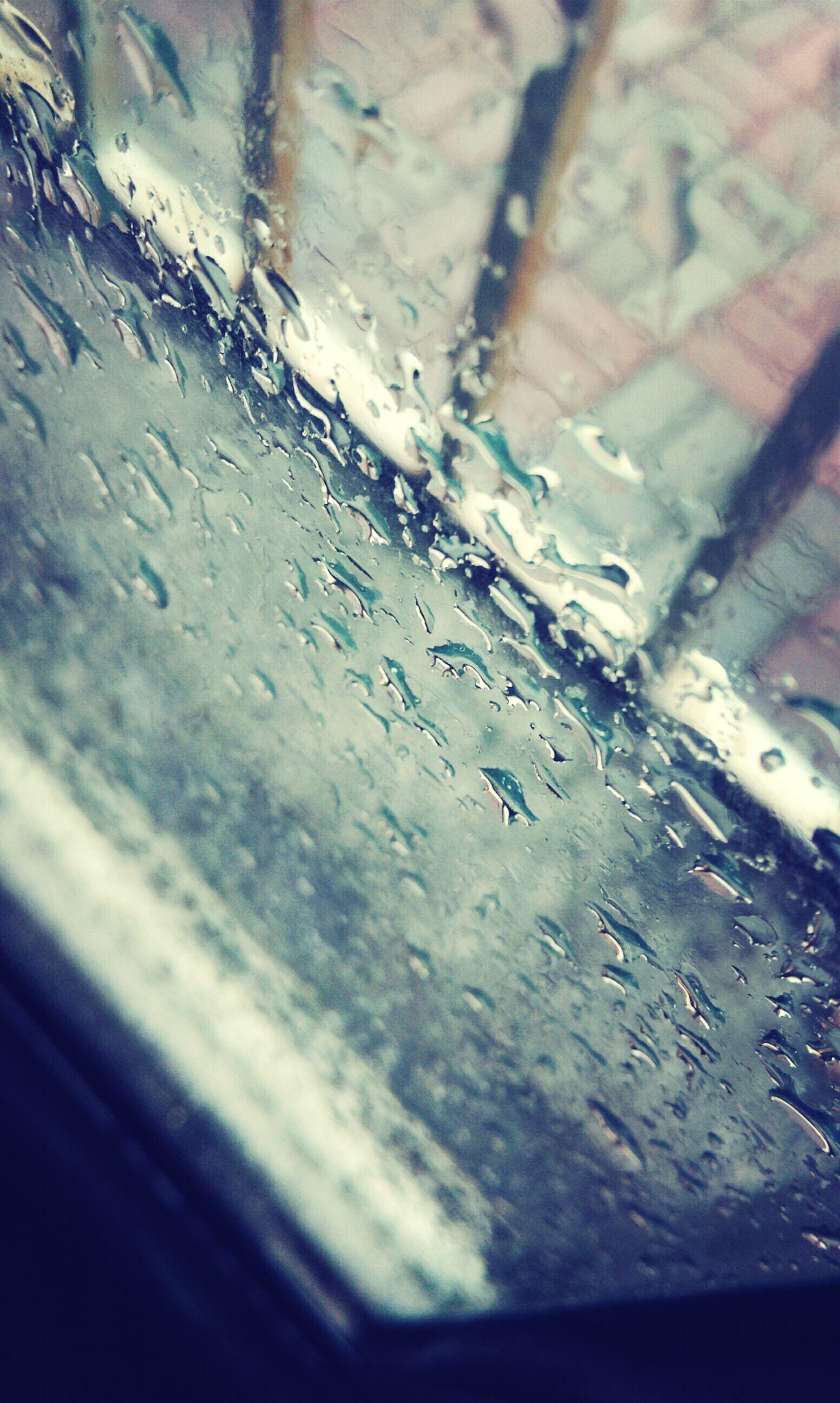 Raining Outside Beautiful Sight Raining Day Enjoying Life