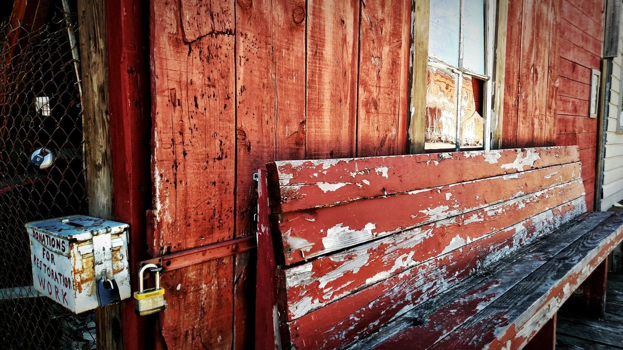 abandoned, weathered, damaged, built structure, architecture, no people, day, building exterior, wood - material, red, rusty, outdoors, bad condition, close-up