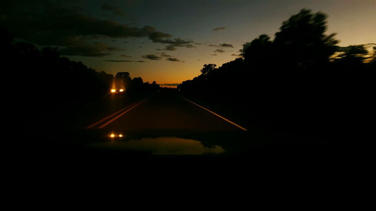Transportation Sunset Sky Dusk Car Cloud Journey Cloud - Sky Dark Tree Orange Color Nature Dirty
