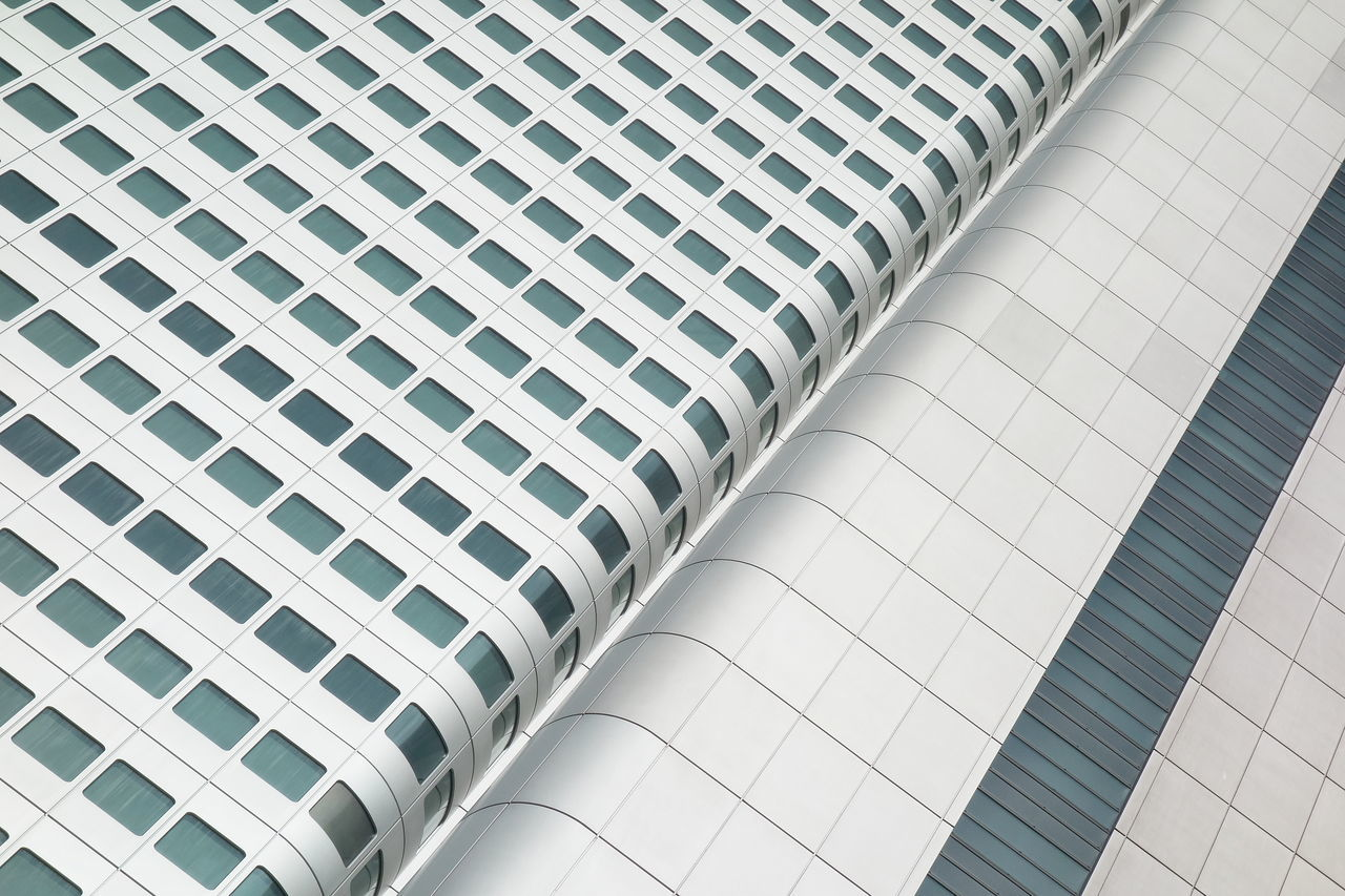Abstract Architecture Building Exterior Built Structure Façade Geometry Modern Silber Simplicity