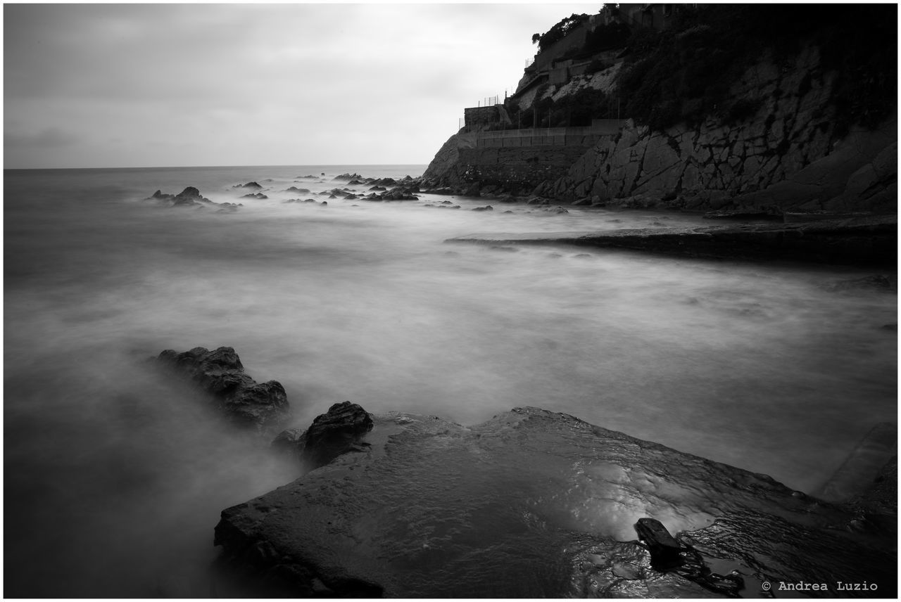Beauty In Nature Cliff Day Horizon Over Water Motion Nature No People Outdoors Rock Rock - Object Rock Formation Scenics Sea Sky Tranquil Scene Tranquility Water Wave