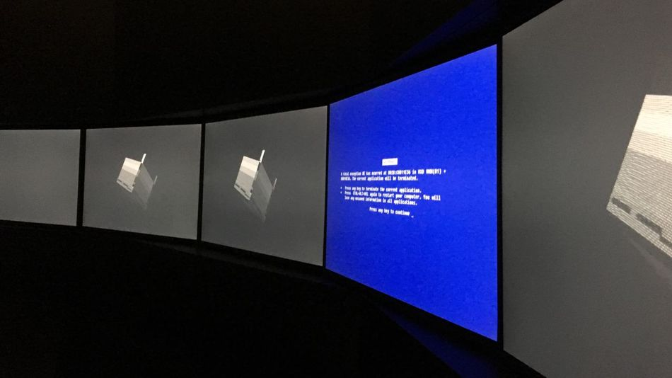Fractal Error Art Installation Windows Blue Screen Screens Screens In A Row Art Installation Digital Art