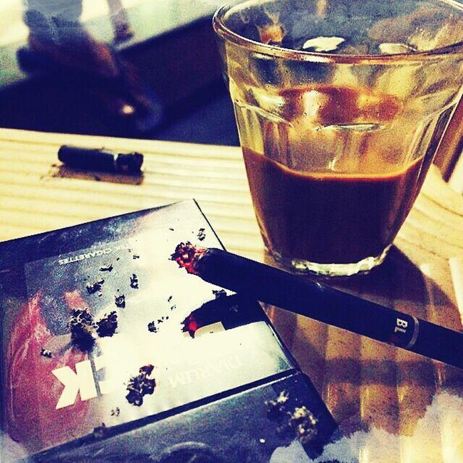 Tea Time Smoking Chilling Clik♥ Enjoying Life Fun Times Black Cigarrette Burn