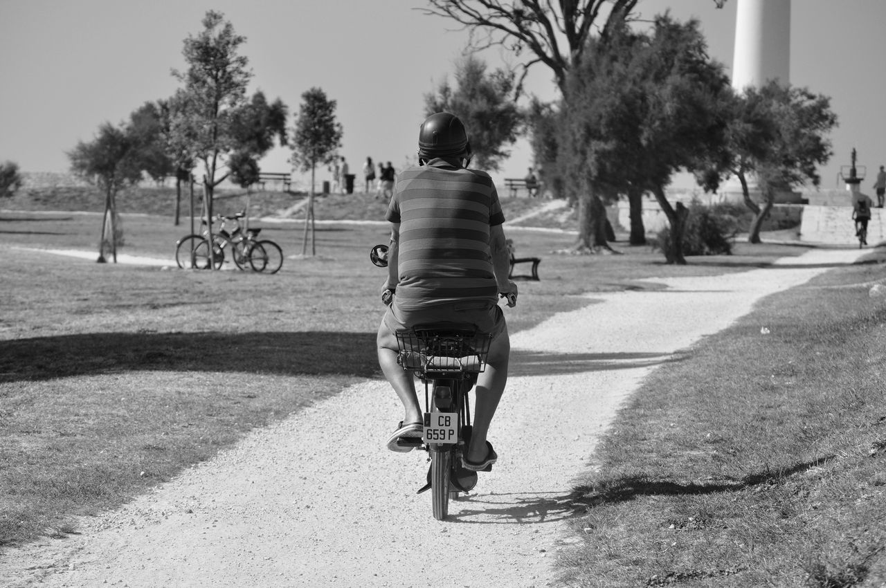 Vroum ... Vroum ... Blackandwhite Mode Of Transport On The Move One Person Real People Riding Sky Transportation