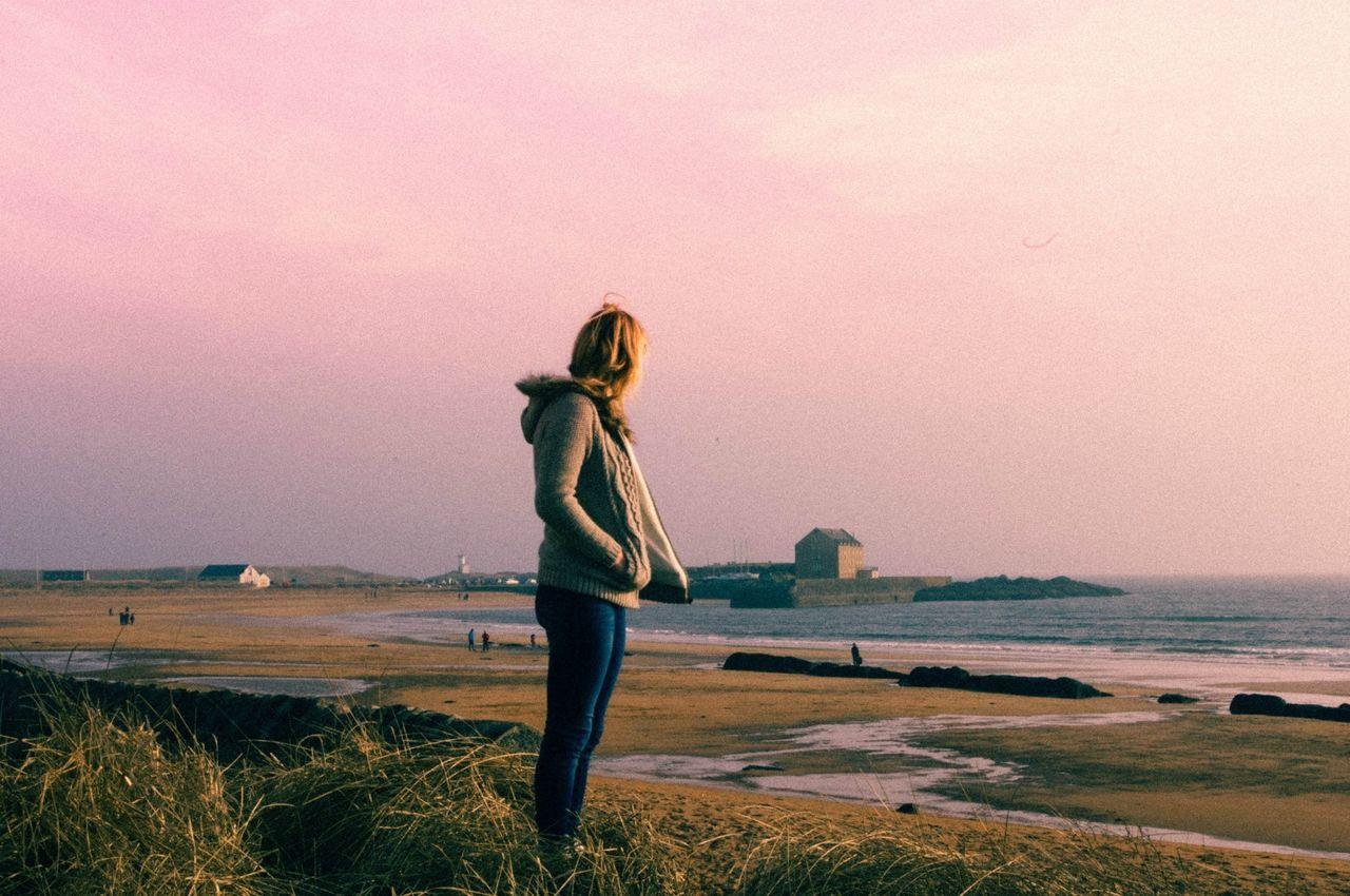 Sea Sandcastles Beach Scotland Colours