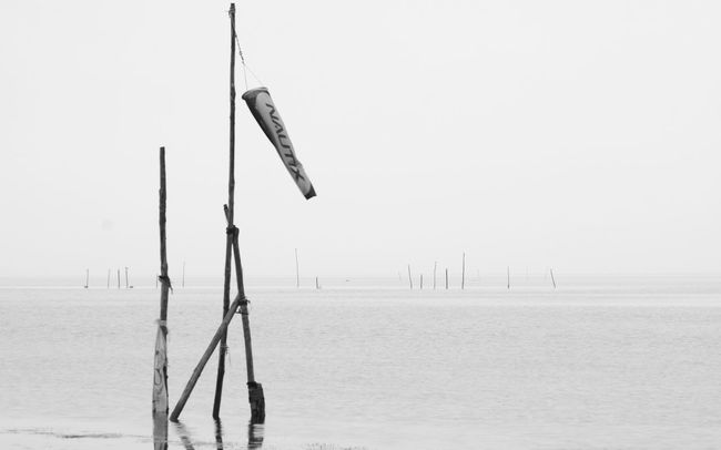 Windsock, Leucate's lake. High aera of Windsurfing & Kitesurfing. France. Windsock Lake Water Sea Nature Noir Et Blanc Seascape Leucate Photo Photography France Kitesurfing Windsurfing Black&white Black And White Photography Blackandwhite Photography Black & White Black And White Blackandwhite Canon