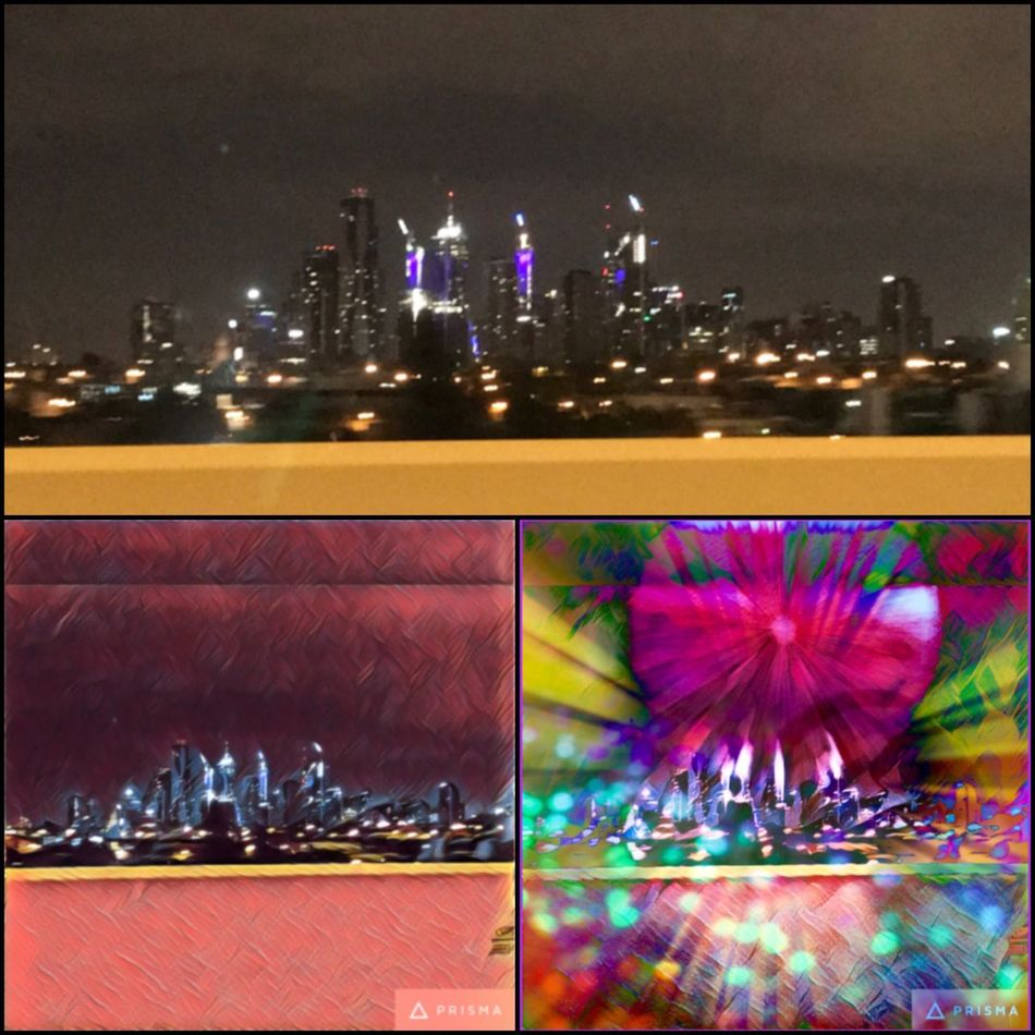 Nightlife in Melbourne 🌃🌝🌃 Melbourne City Nightlife Collage Cityart Prisma Picsart Edits Nightdriving 🚙