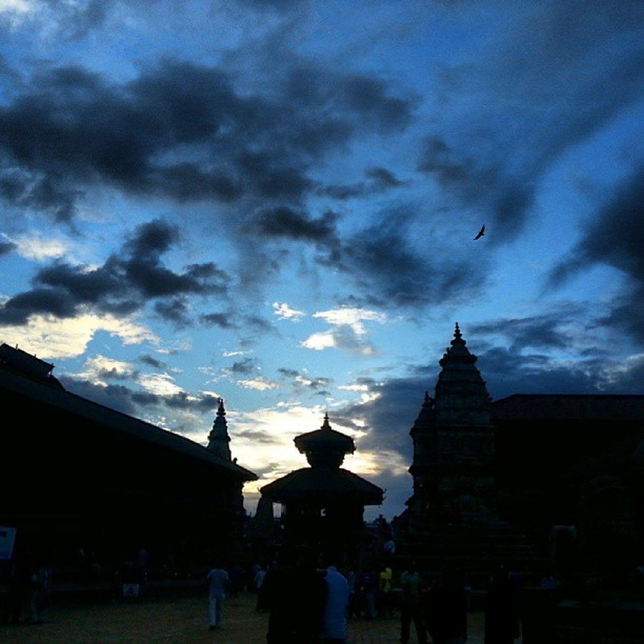 Bhaktapur Durbar Square Twilight nofilter picoftheday nepal