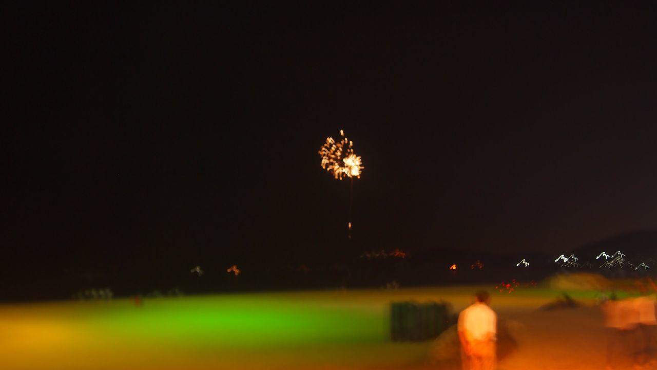 Beach Busan Firework Night Outdoors Outfocus