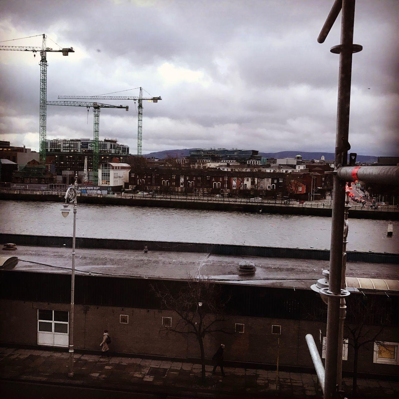 Sky Building Exterior Cloud - Sky City Water Outdoors Day Ontheroad Morningview Urban Skyline Dublin, Ireland