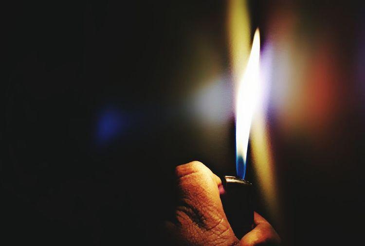 At night 3 a.m. Burningflame
