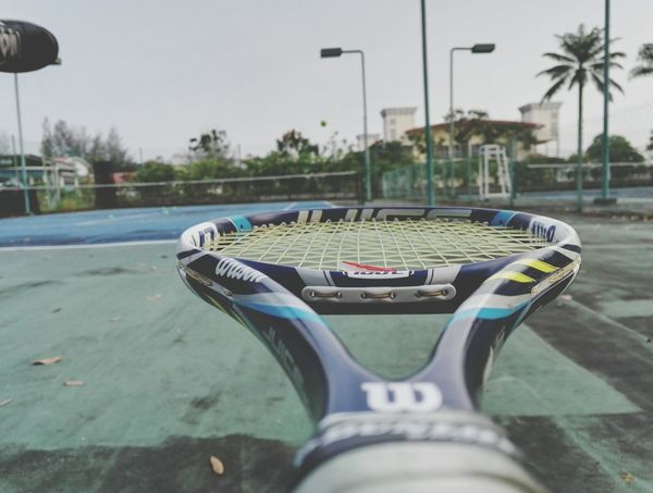 Morning tennis Tennis 🎾 Sport Outdoors Passion Day Wilson  Wilsonjuice Juice Ggwp Ggez Morning Fit
