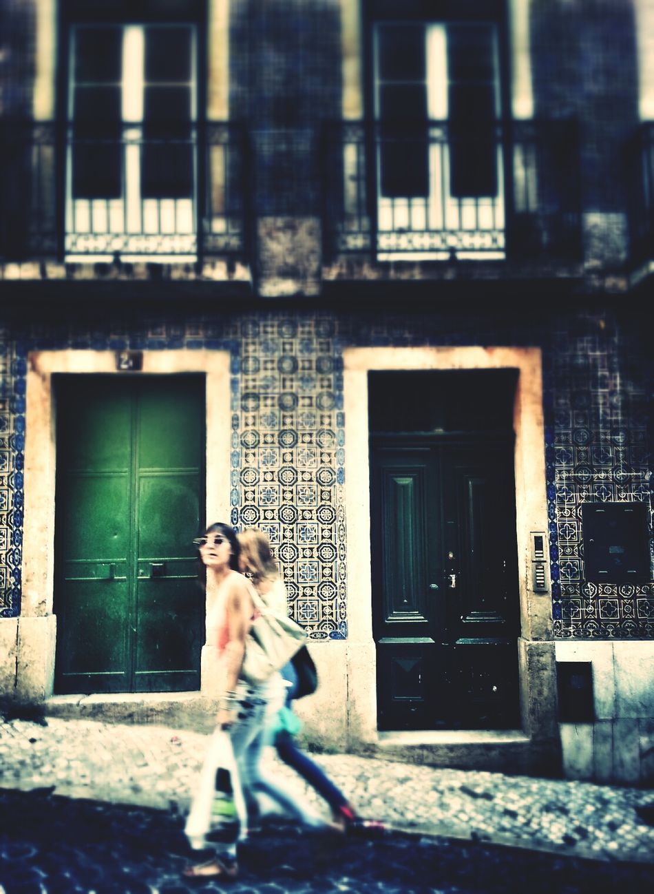 Walking Past My Door Andrographer Two By Two Lisbon Streetphotography