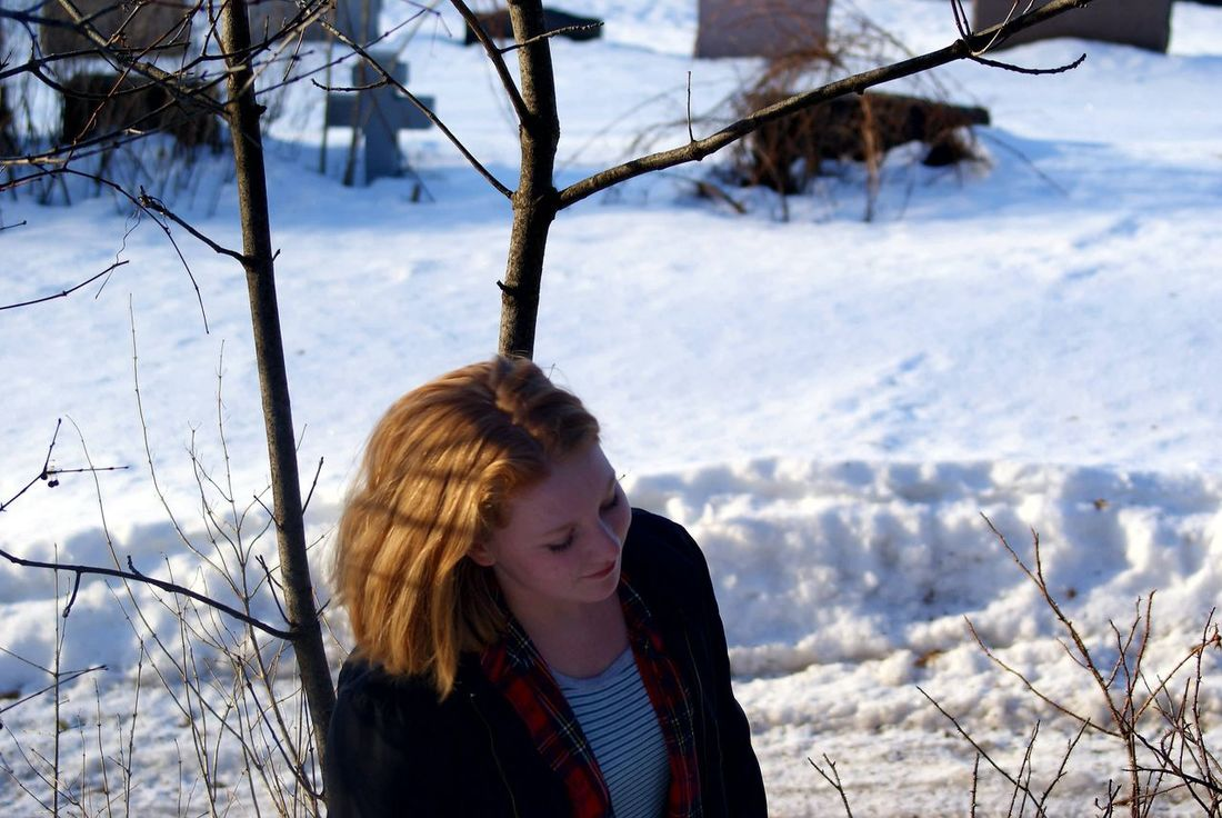 Winter Cold Temperature Snow Teenager Portrait One Teenage Girl Only Teenage Girls Warm Clothing One Person People Outdoors Tree Close-up Young Adult Nature Day Beauty In Nature Adult