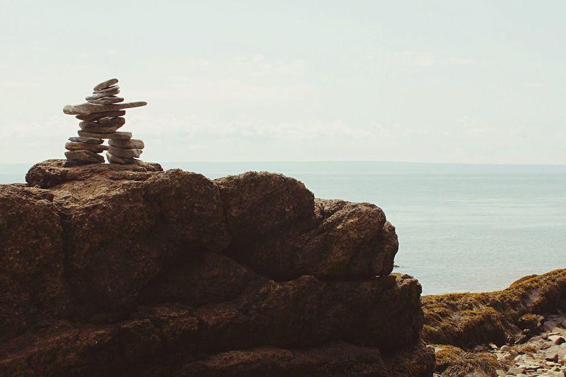 Ocean Inuksuk Sky Rocks Alma, NB Cape Enrage