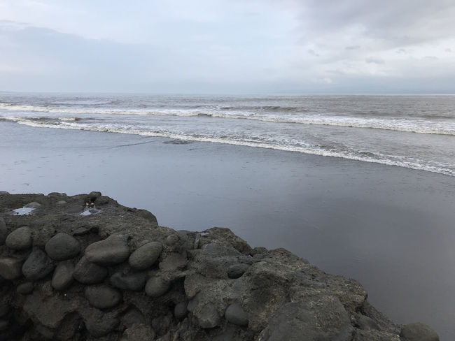 Bali, Indonesia Beach Beauty In Nature Black Sand Day Horizon Over Water Nature No People Outdoors Scenics Sea Sky Tranquil Scene Tranquility Water Wave