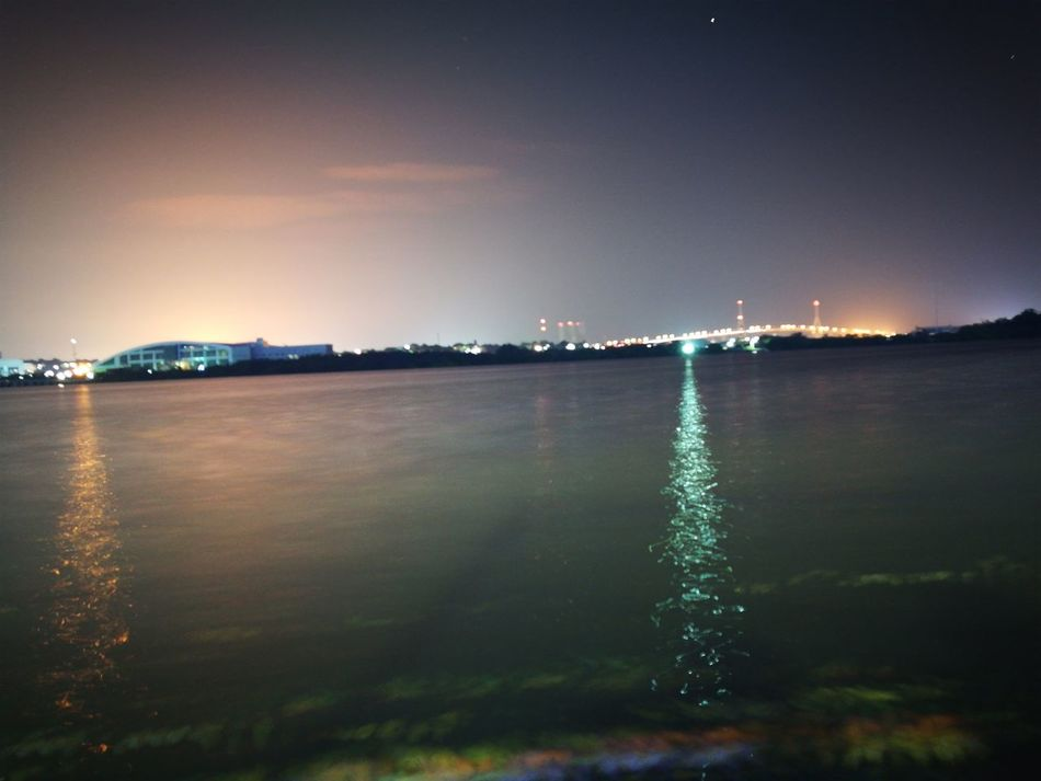 Tampico Tampicohermoso Nocturna Night Reflection Sky Laguna Puente
