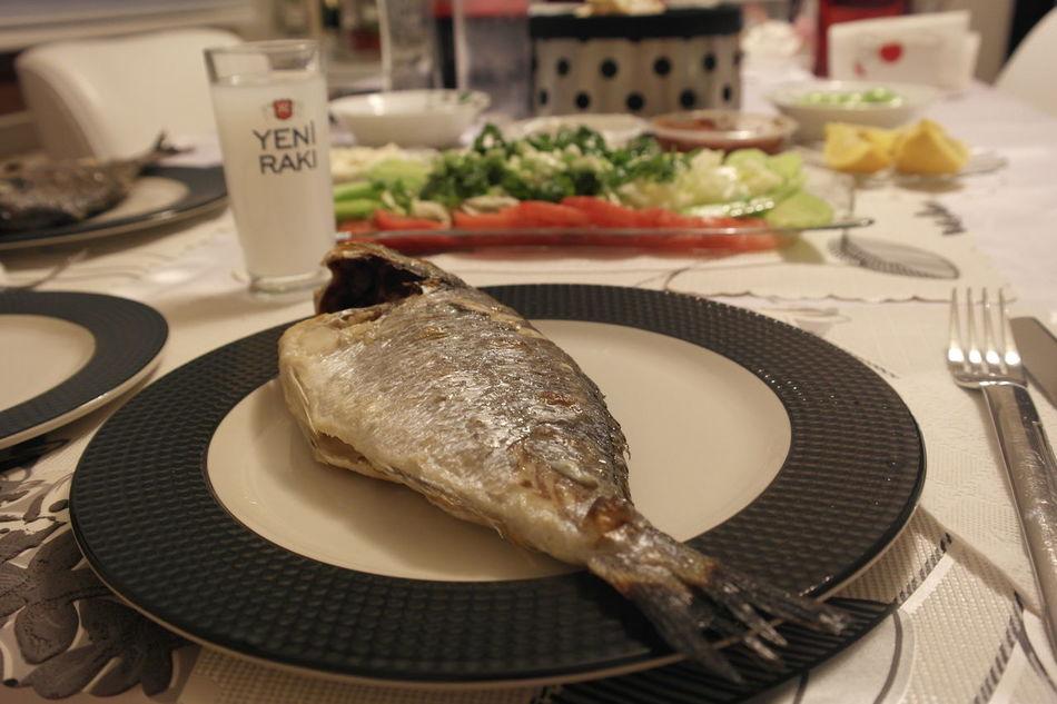 Enjoying A Meal Enjoying Life Fish Fish And Raki Meal Rakı Rakı-Balık Turkish Raki Homecooking Homemade Food Homecooked Homemade My World Of Food