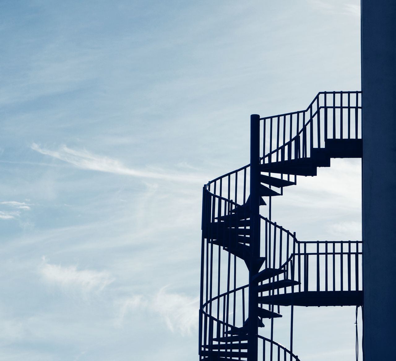 No People Sky Day Outdoors Architecture Low Angle View Stairs Stairs & Shadows Negative Space Built Structure Building Buildings & Sky Buildingstyles Silhouette Silhoutte Photography
