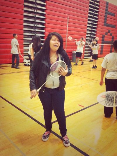 Roxana needs to settle down, it's only badminton.