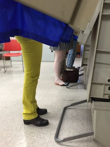Showing Imperfection Up Close Street Photography Electionday2016 Bright Colors Happy Colors Shower Curtain Primarys Legs Machines Silly Pants Modern Chairs The Mix Up