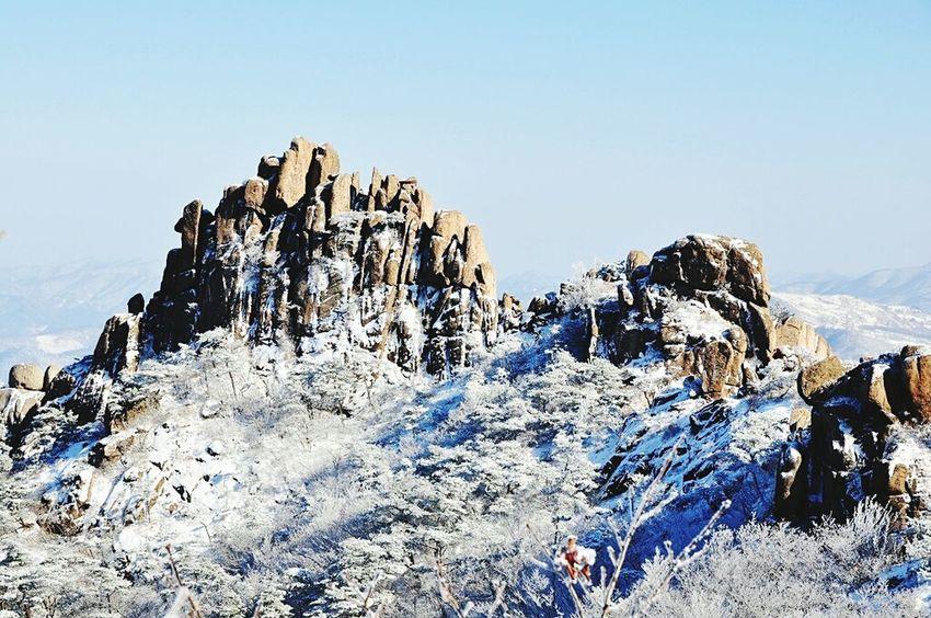 Wolchulsan National Park In Korea Winterwonderland On The Mountain Snow Photography Snow❄sky Wintertraining Last Winter Snowwhite In Korea
