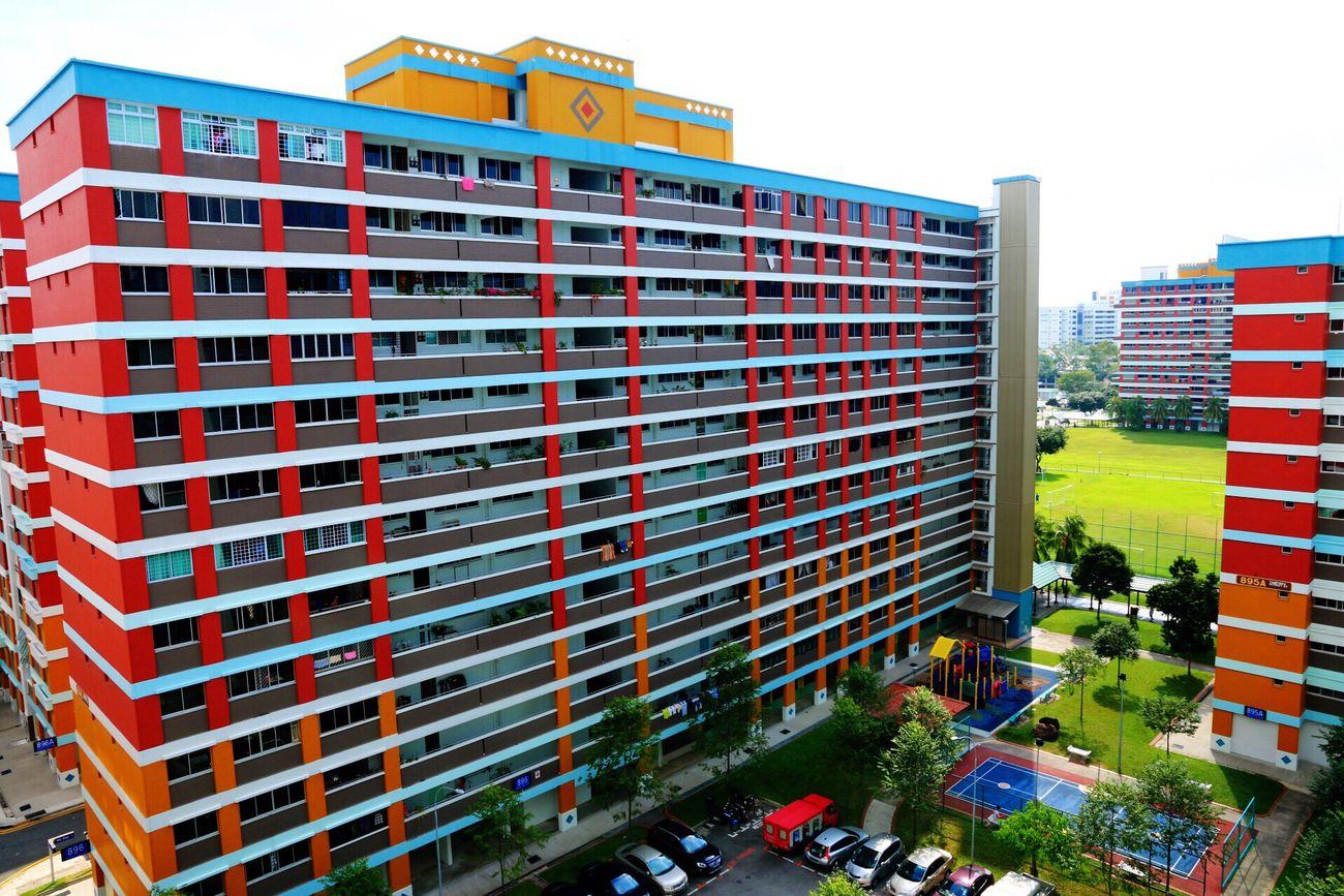 Housing on Singapore Built Structure Architecture Singapore HDB Neighborhood Building Town Urban Cityscape