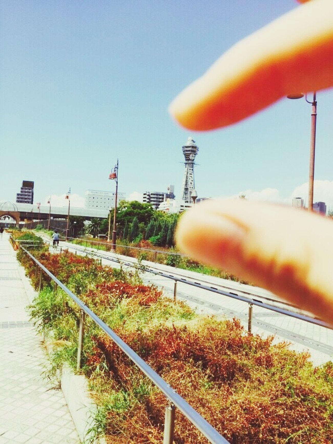ミニミニサイズ笑 View Taking Photos Enjoying Life Good Times Osaka,Japan 通天閣 Relaxing