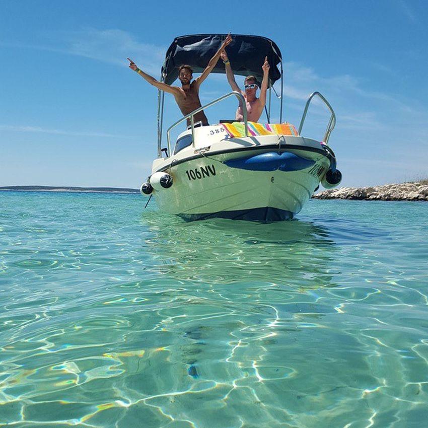 boat trip in croatia :) Boat Sun Hollyday Nofilter Bros Sea Adriaticsea Blue Dream Mybros Landscape Happy Croatia Pag Novalja Trip Bay Bluesky