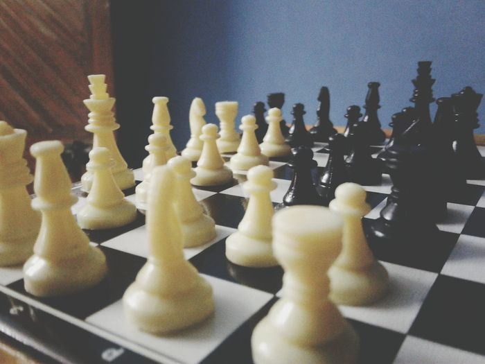 Chess Chess Piece Chess Board Strategy Leisure Games Checked Pattern Knight - Chess Piece King - Chess Piece Pawn - Chess Piece Queen - Chess Piece Competition Indoors  Skill  No People Intelligence Close-up Day
