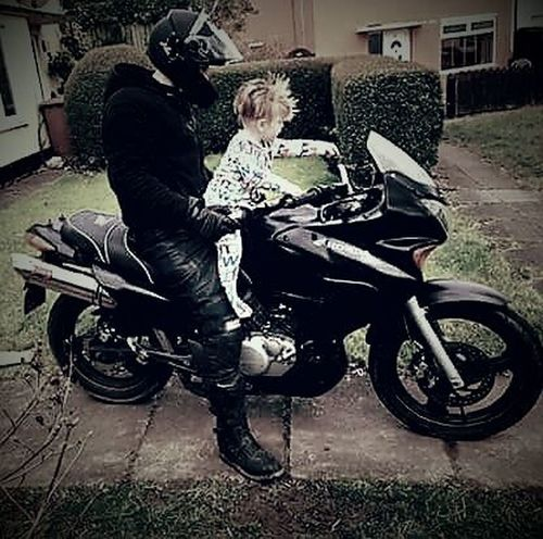 EyeEmNewHere Real People Mode Of Transport Transportation Father And Son Time Father&son Motor Bike Motorcycle