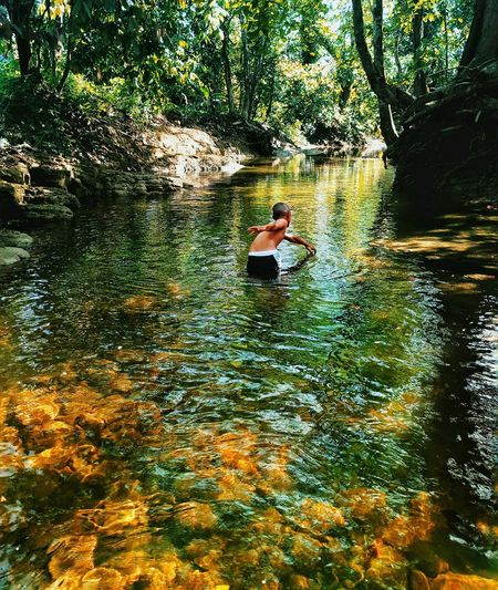 One Person Reflection Day Nature Lifestyles Lake River Water Real People Outdoors Rio Dominican Republic Cibao Meizu Meizu Mx6