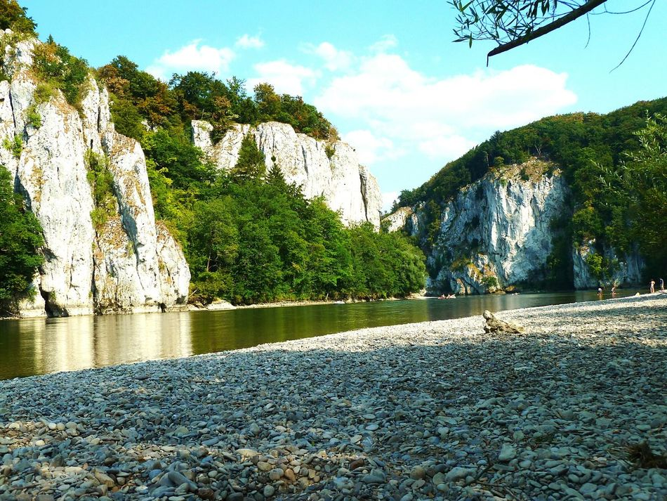 Enjoying Life Relaxing Nice View Holidays Riverside Weltenburger Enge Donau Summertime