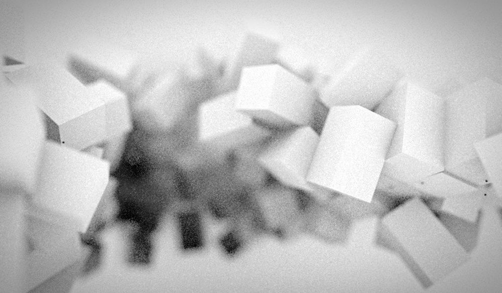 Cubes Depth Of Field White Blackandwhite Abstract Atmospheric Blur Geometric C4d Motiondesign