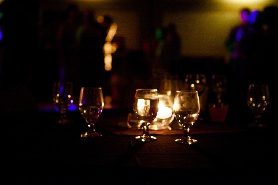 Candles Celebration Glasses Light Light And Shadow Night Reception Wedding