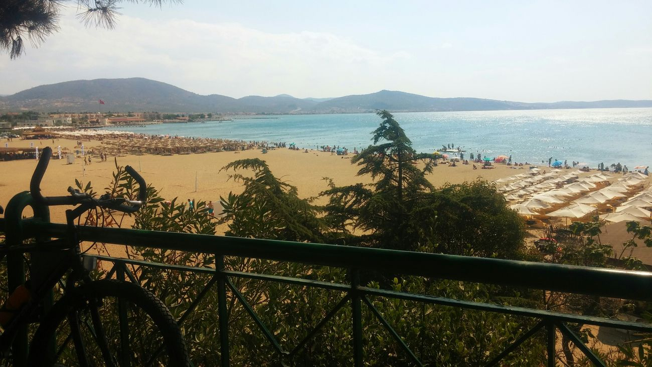 I Love My City Balikesir Oren Burhaniye Beach Sea Summer ☀ Trees Sun Hot Day