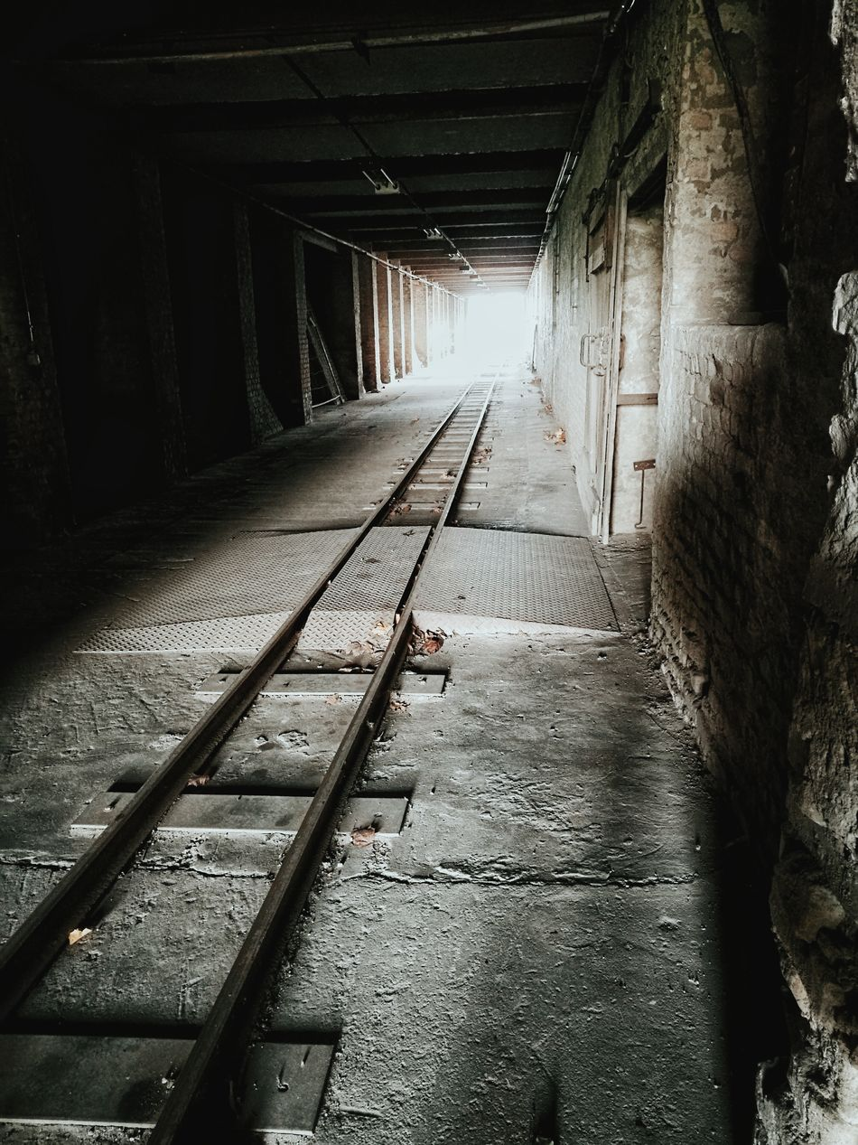 Light At The End Of The Tunnel Tunnel The Way Forward Shadow Built Structure No People Architecture Welcome To Black Vanishing Point Industry Locomotive Darkness And Light Light And Shadow Abandoned Railway Track The Secret Spaces