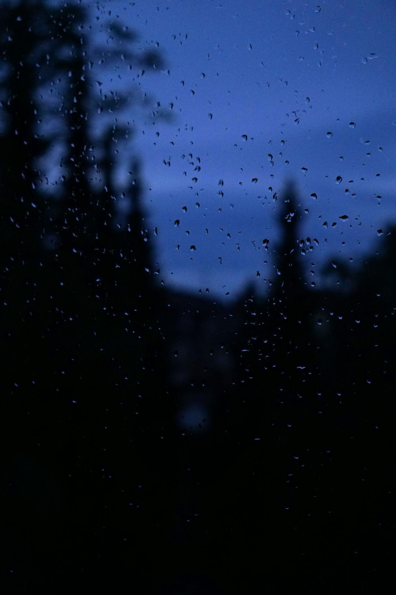 Backgrounds Dark Drop Looking Through Window Night No People Rain RainDrop Raining Silhouette Sky Trees View From My Window Weather Wet Window