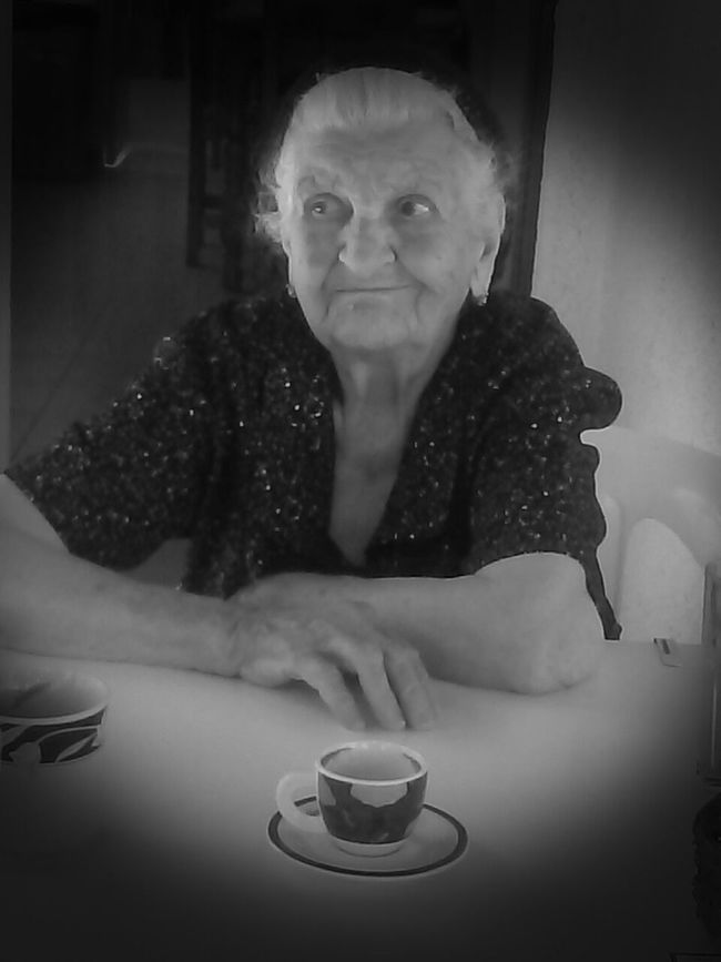 """Old But Awesome . A CENTURY + 3. Yiayia. """"Strong Likel Bull"""". People Old-fashioned Kastania, Greece Women And Coffee In The Village The Old Country Grandmother Yaya <3 Lifestyles Old But Awesome"""