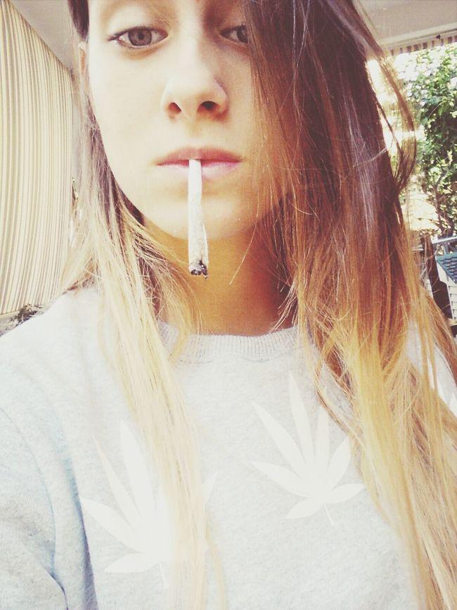 Weed Lover High As Fuck Ganja Girl