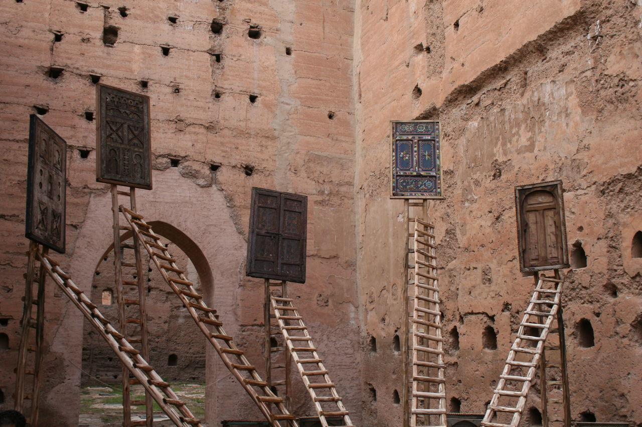 Ancient Architecture Art Doors Ladders Morocco Museum Outdoors