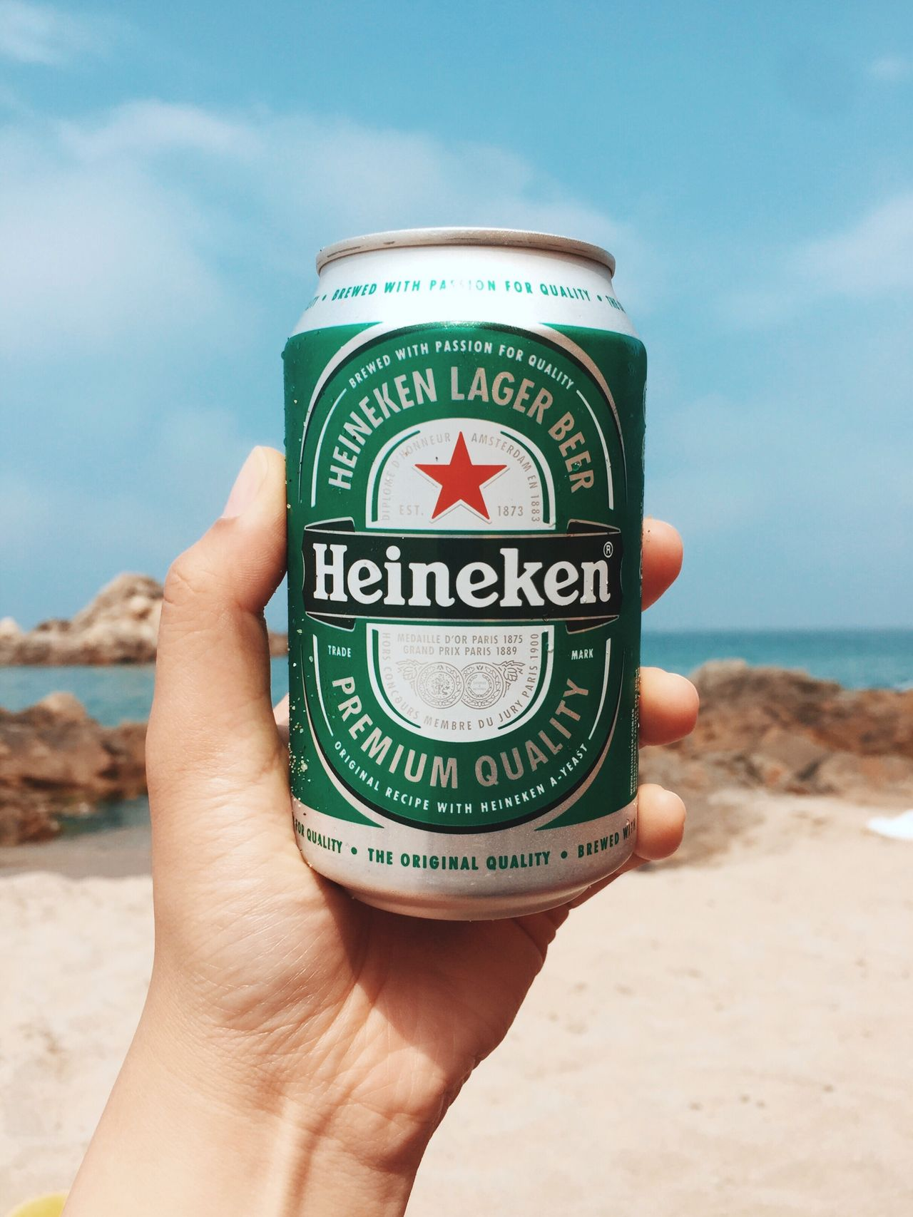 Summer and Beer Human Hand Human Body Part Sand Beach One Person Real People Sea Personal Perspective Communication Day Sky Holding Text Outdoors Vacations Close-up Travel Leisure Activity Nature Water Beer Beach Beachphotography