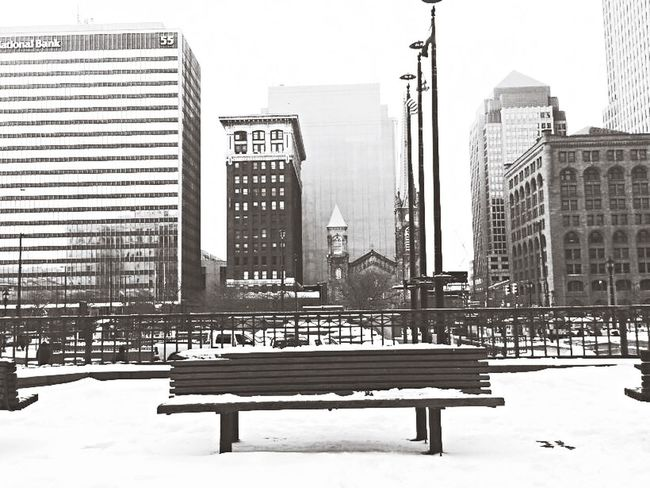 How's The Weather Today? Clevelandweather Downtowncle ClevelandTowerCity CLE  Snow
