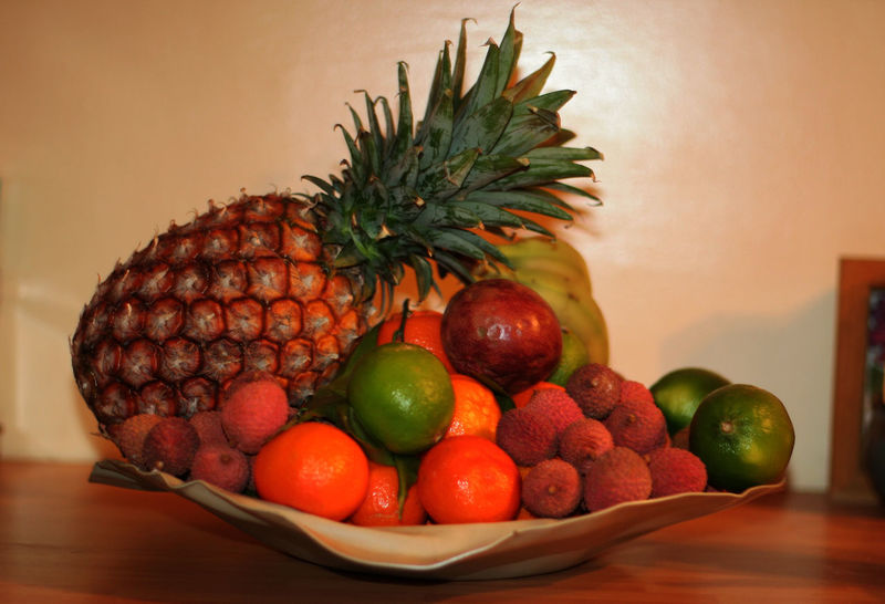 Abundance Bananas Clementines Design Fruit Bowl Detox Detox Fruits Exotic Fruit Bowl Exotic Fruits Food Food And Drink Fruit Fruit Bowl Fruits Healthy Eating Healthy Lifestyle Limes Lychees Passion Fruits Pineapple Still Life Studio Shot Vitamin C Vitamines Winter Fruits