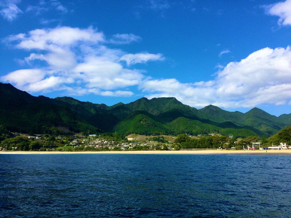 great view 🚤. Japan Nature Sea Mountain View Sky IPhone IPhone Photography Mie