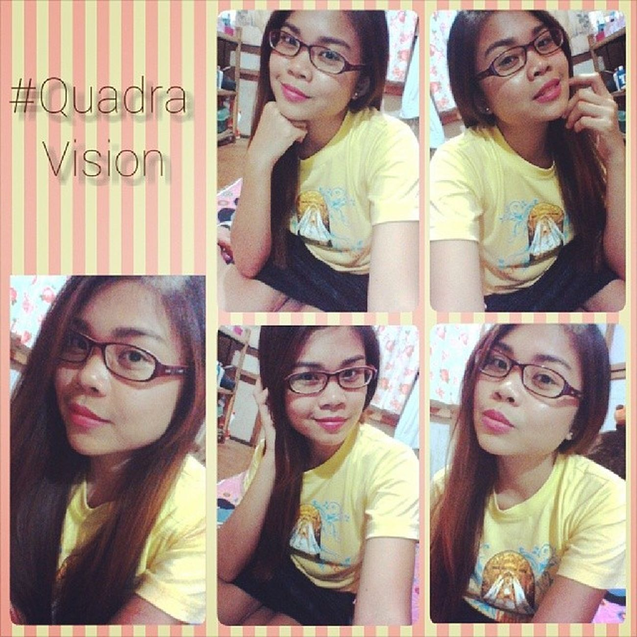 Naning mode. I need a new pair of glasses, i think. Selfie Quadravision