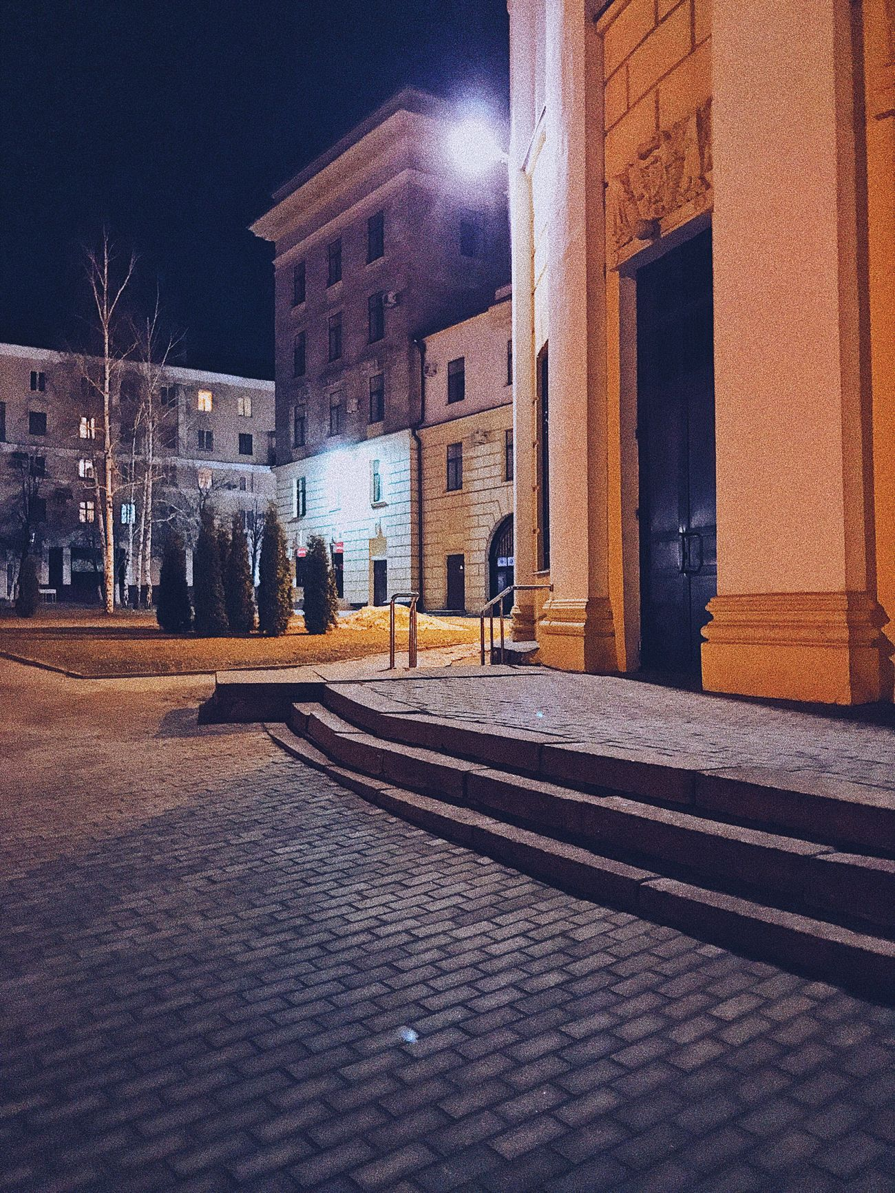Building Exterior Architecture Built Structure Illuminated Night Outdoors City No People Lipetsk липецк