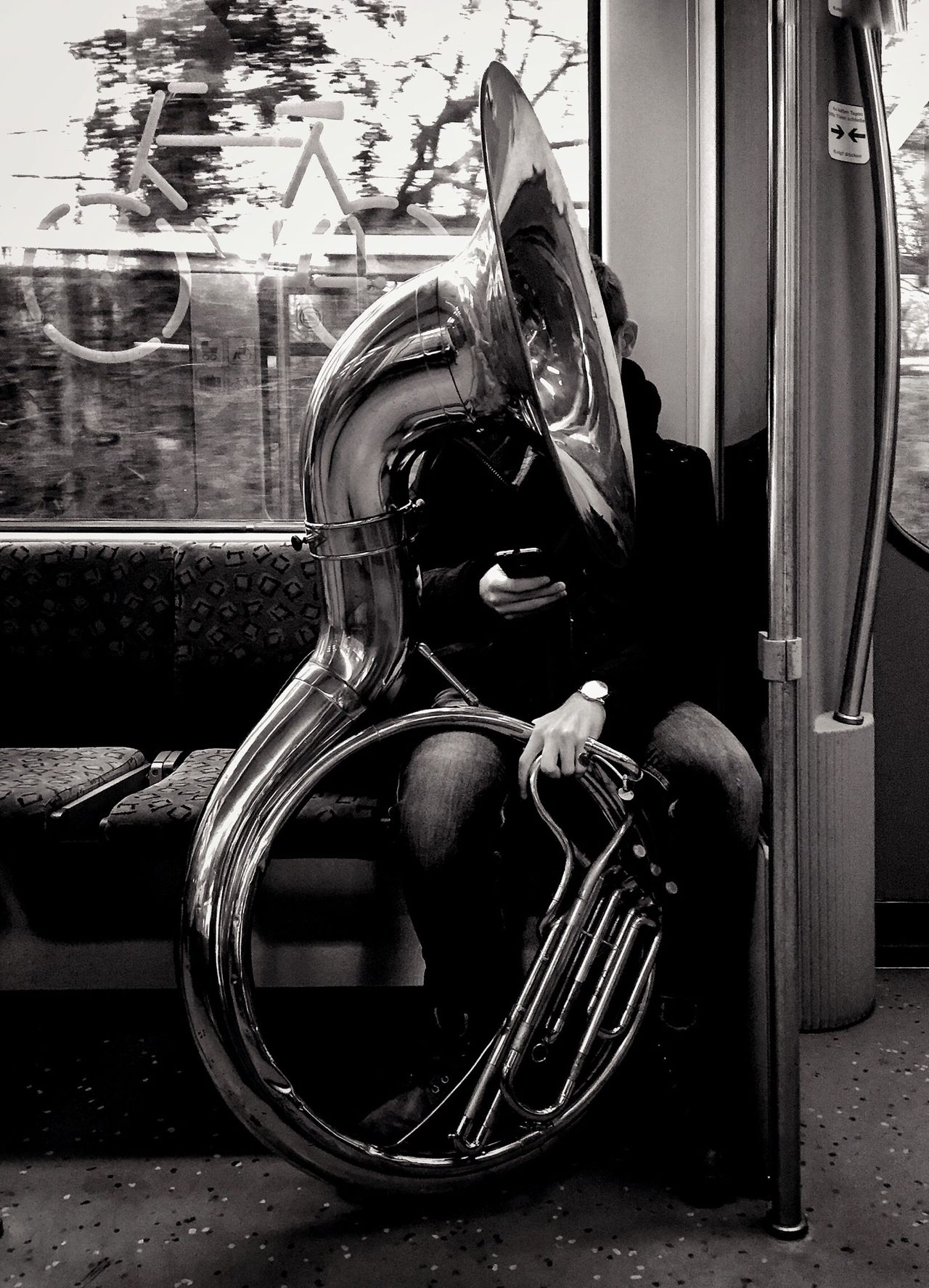 Streetphotography StreetPortraits Public Transportation Berlin Myfuckingberlin Blackandwhite Bnw Mpro Iphone6 Mobilephotography