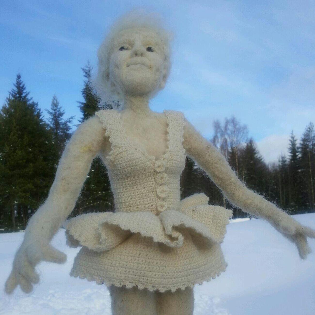 Winter ballerina Handmade By Me Artdolls Portrait Hello World